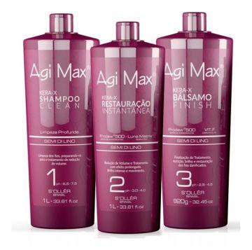 Agi Max Kera-X Brazilian Treatment Hair Kit 3x1 Liter