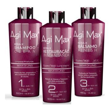 Agi Max Kera-X Brazilian Treatment Hair Kit 3x500 ML